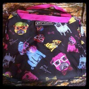 Betsey johnson nerdy pugs lunchbox